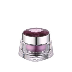 30g crystal lid acrylic cosmetic cream jar