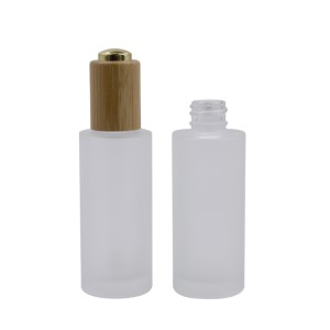 glass dropper bottle bamboo 30ml 50ml