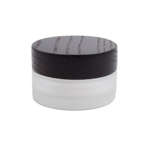 30g 50g glass cream jar with black bamboo lid