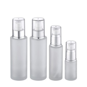 20ml 50ml 100ml frosted glass lotion pump bottles