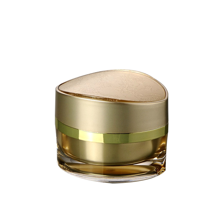double wall gold acrylic cosmetic cream jar