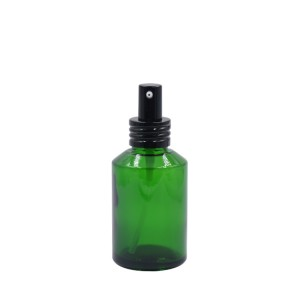 15ml 30ml 60ml 125ml 250ml green lotion bottle with black pump