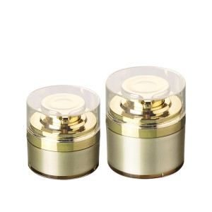 gold color luxury airless pump jar