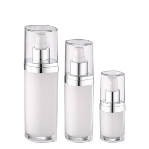 white color luxury lotion pump acrylic bottle