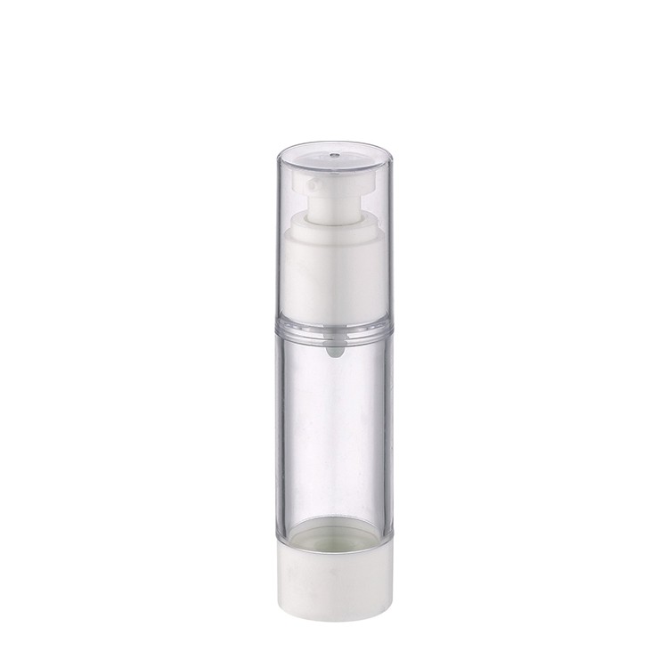 clear plastic airless cosmetic packaging bottle