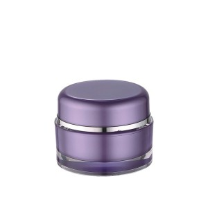 round double wall cosmetic packaging jars