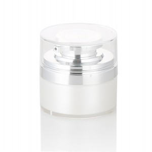 double wall white airless pump jar