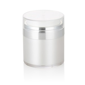 luxury white vacuum airless pump jar
