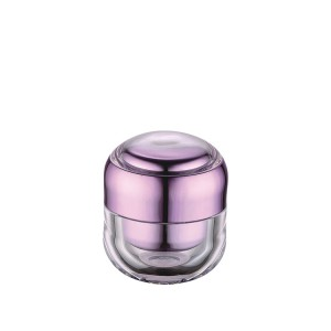 15g 30g purple acrylic cosmetic cream jar