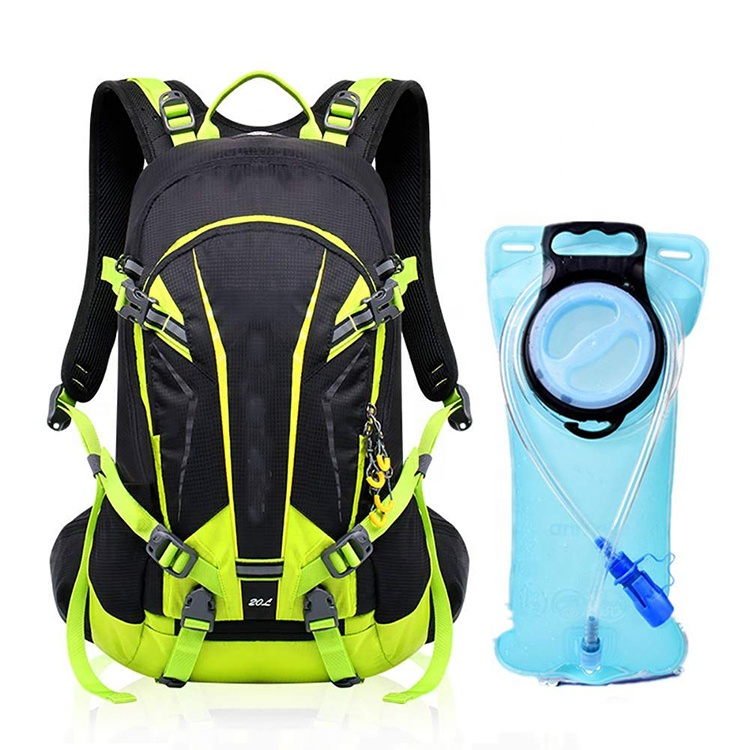 2L BPA Free Hydration Bladder Multiple Compartments Water Storage Backpack For Hiking Camping