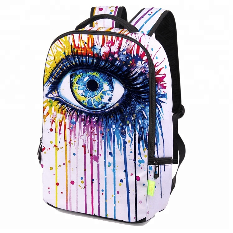 Wholesale Polyester Softback Fashional 3D Digital Full Printing School Backpack for Teenager