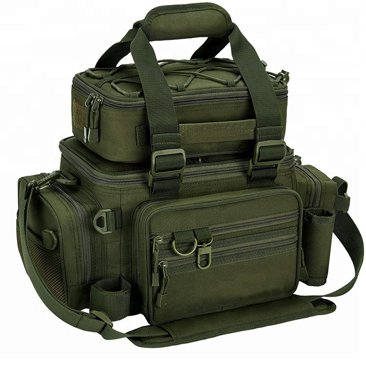 Military-Grade Multi functional Large Storage Custom Tackle Pack Bag For Outdoor Fishing