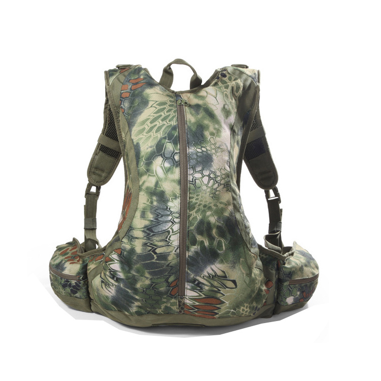 Wholesale Outdoor Hiking Trekking Army Camouflage PVC 3L hydration pack backpack