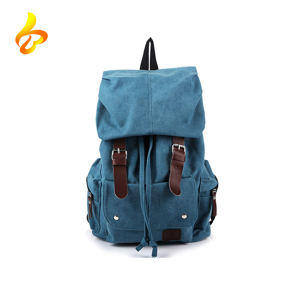 Hot Sell Popular Book Laptop Bag Vintage Custom School Rucksack Canvas Backpack