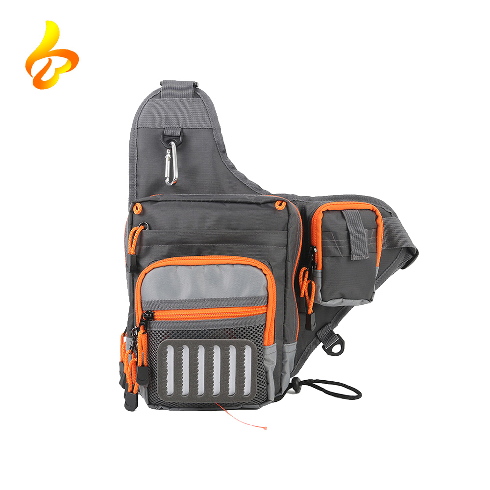 Fishing Pack Water-Resistant Sling Bag for Climbing Hiking Cycling Travelin, Fishing Tackle Bag