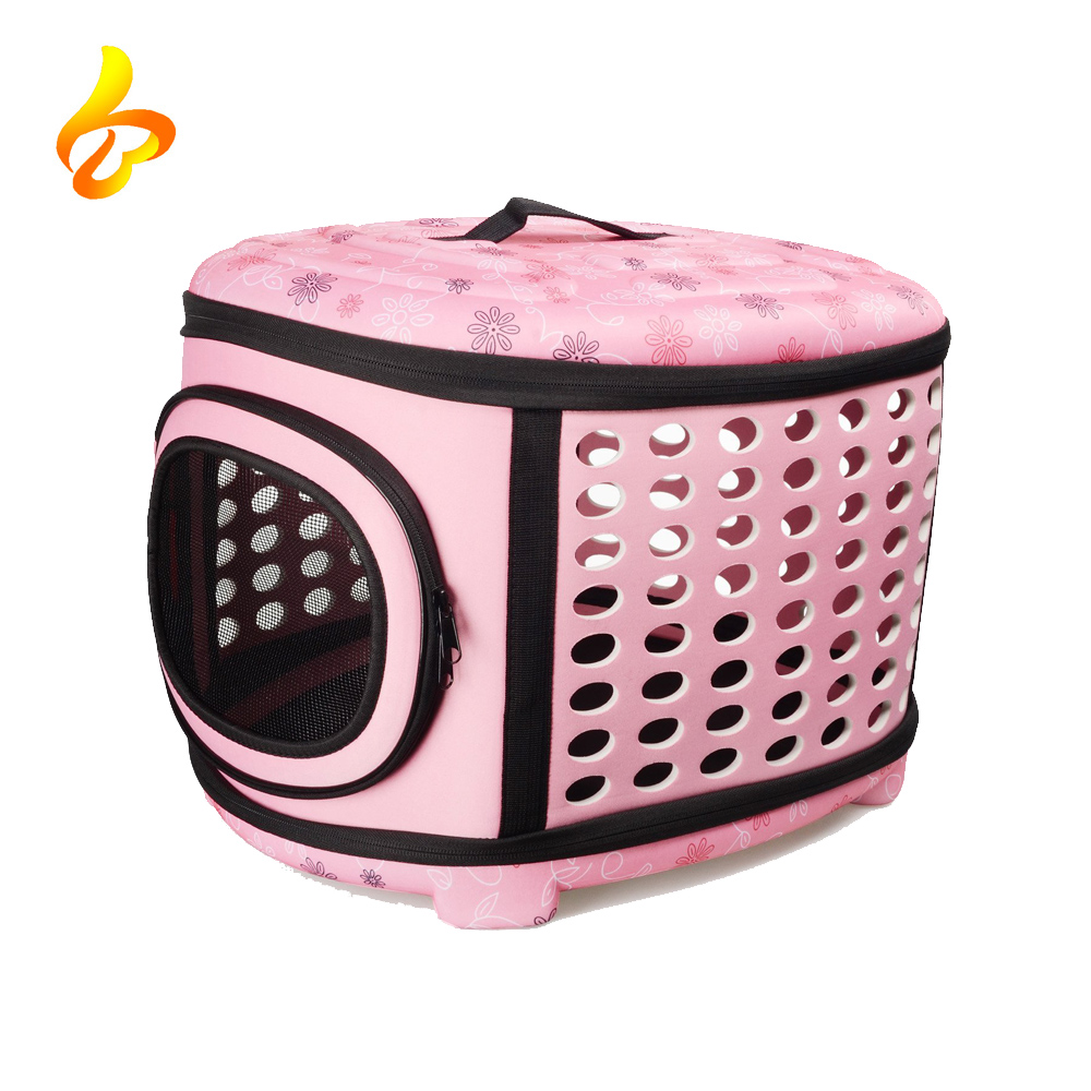 Wholesale Fashion Airline Approved Portable Folding Pet Carrier Bag for Dogs Cats Rabbits