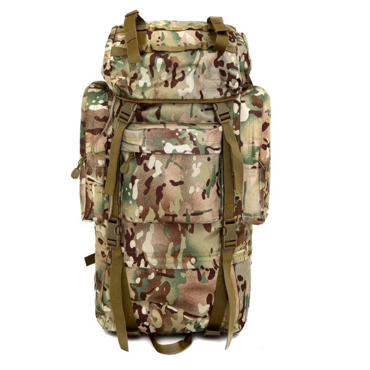 70L+10L Large Capacity Hiking Camping Camouflage Waterproof Mountain Top Backpack