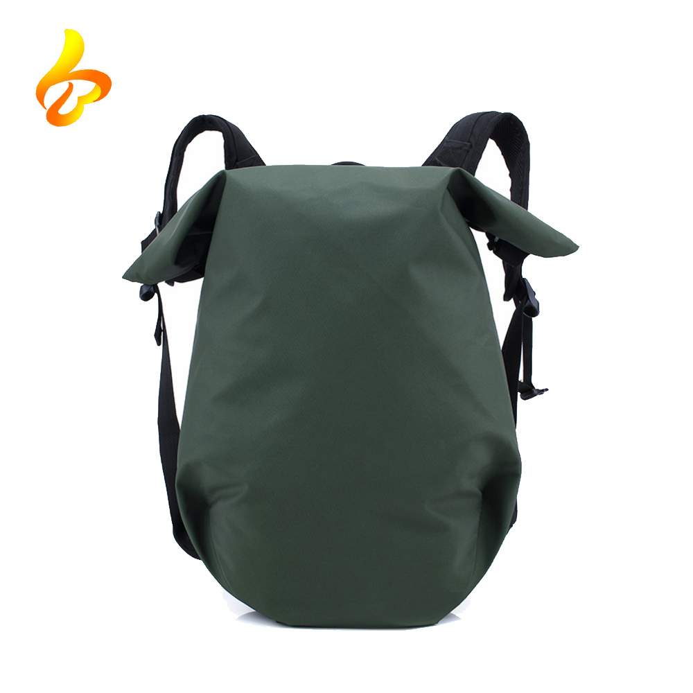 China Supplier Custom Computer Layer Classic Black Daypack Waterproof Roll Top Backpack For Laptop