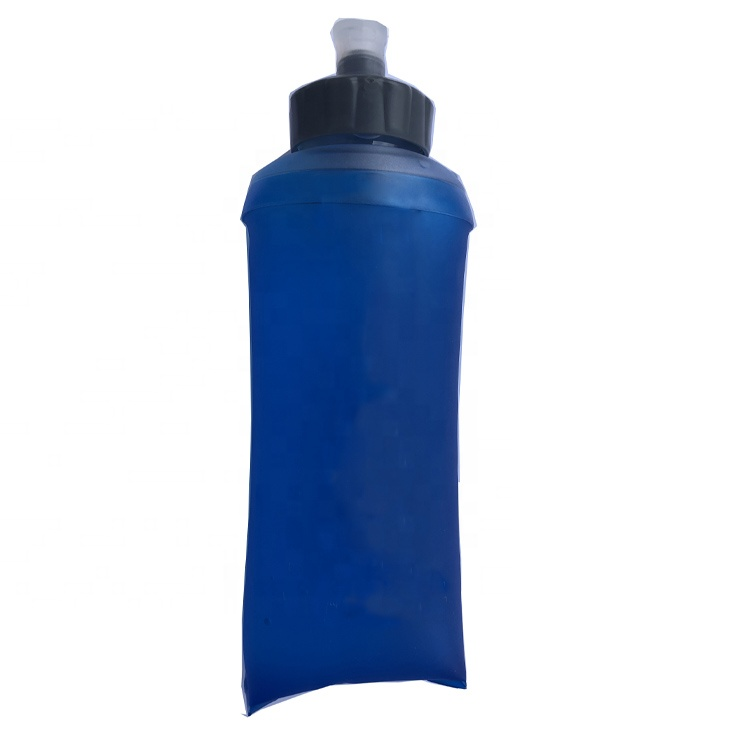 Outdoor Wholesale Soft Flask Collapsible BPA Free Drinking Water Bottle for Cycling Running