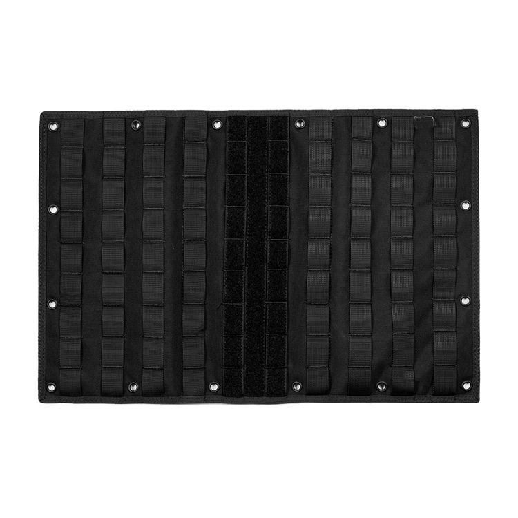 Multi-purpose MOLLE Gear Panel Organizer Patch Display Board with 16 Grommeted Holes