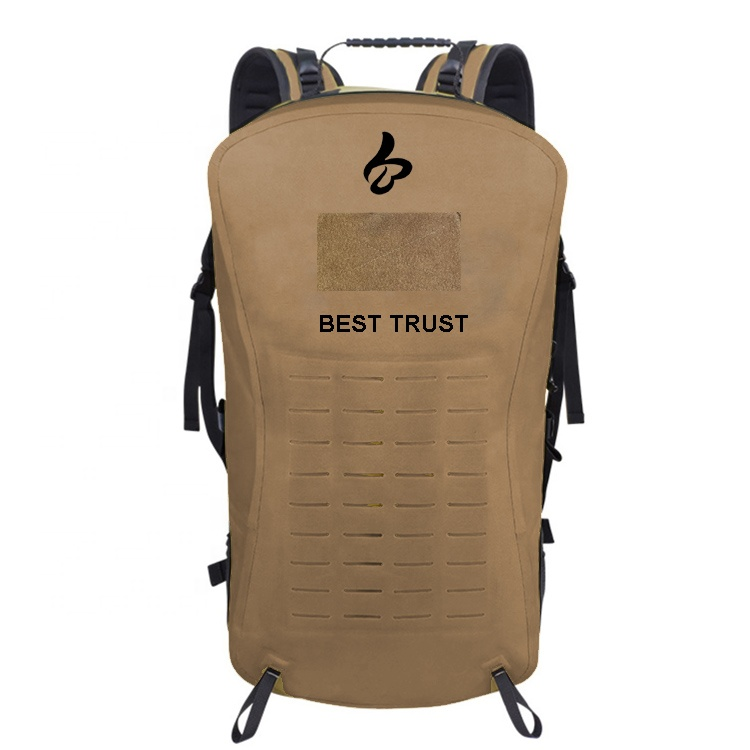 Strong 1000D Nylon TPU Coated Laser Cutting Molle System Waterproof Tactical Backpack
