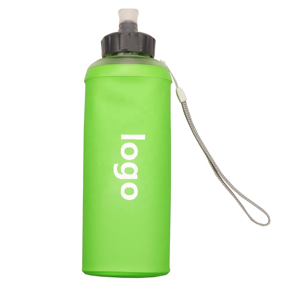 New Style Water Storage Bottle Collapsible BPA TPU 500ml 600Ml Soft Folding Sport Water Bottle