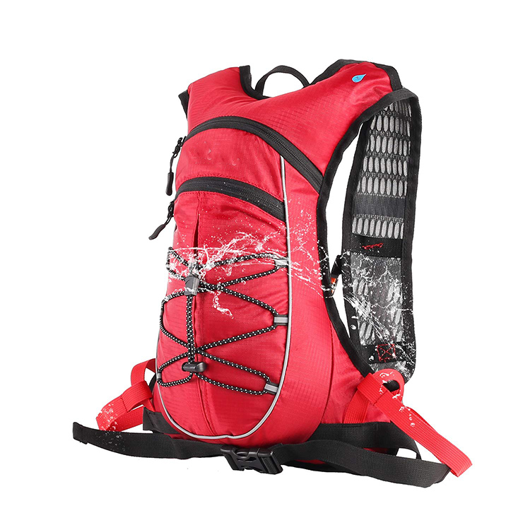 Wholesale BPA Free Bladder Pocket Hydration Backpack with Helmet Net For Camping Hiking Biking