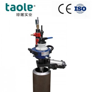 Pneumatic pipe end chamfering machine tool