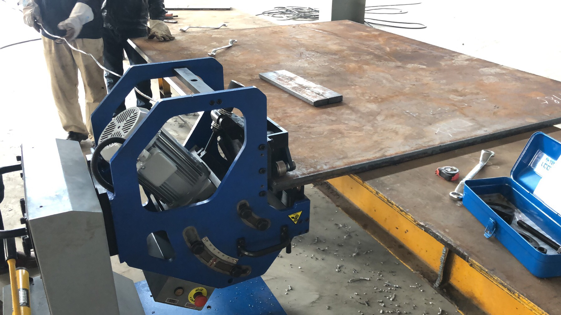 GBM-12D/16D-R beveling machine for Bridge Steel Structure