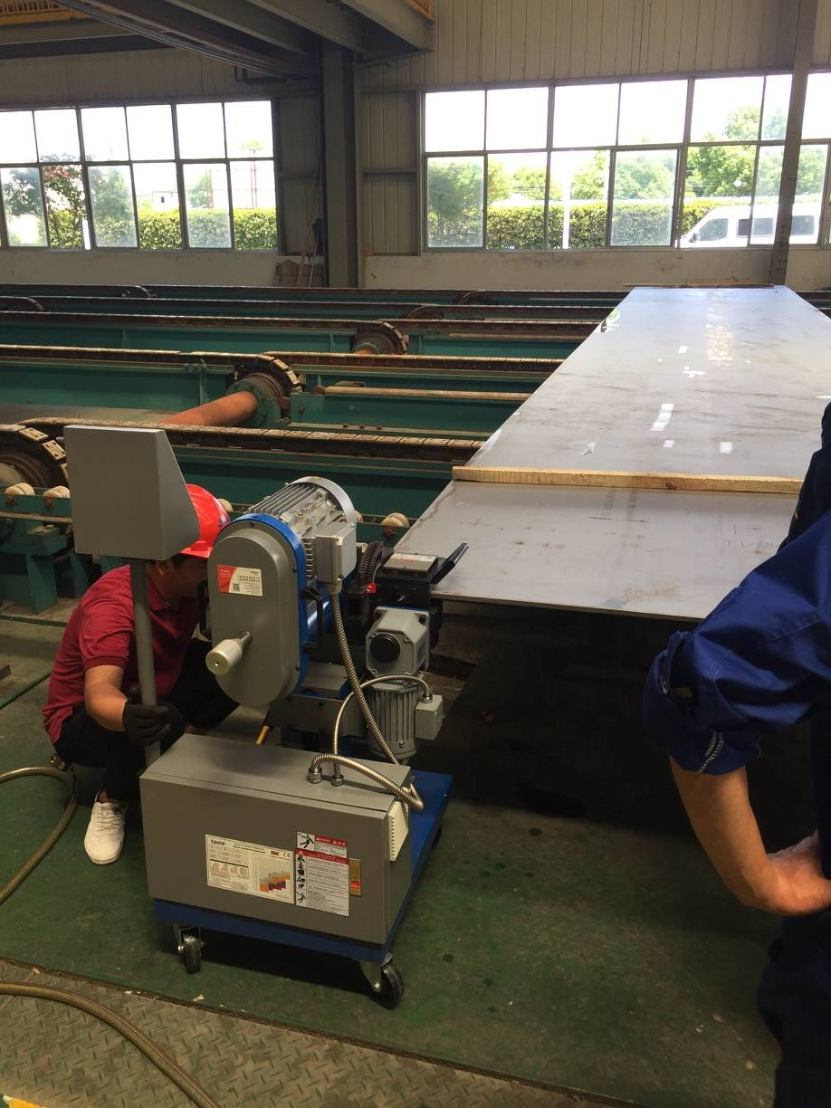GMMA-60L beveling machine for stainless steel S32205