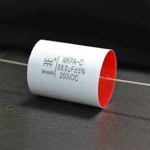 High Quality Axial-Metallized Polyester Film Capacitor -