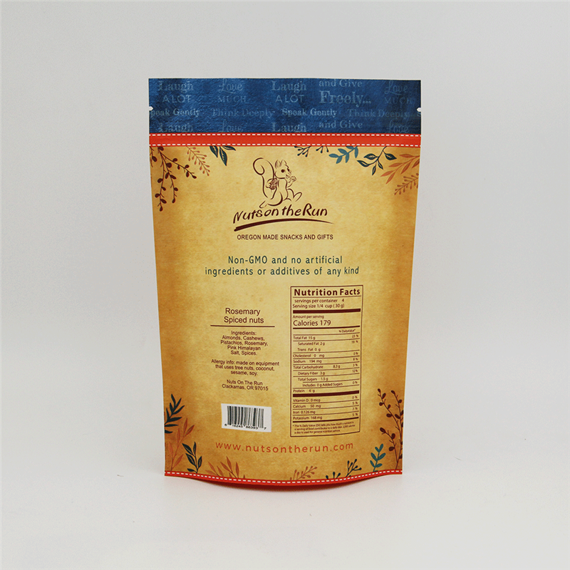 OEM/ODM China Stand Up Pouches Manufacturers - OEM stand up zip lock paper bag with window – Kazuo Beyin