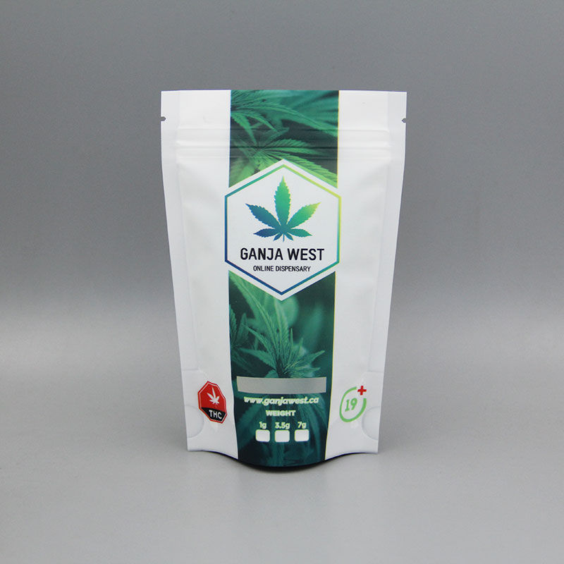 2018 Latest Design Stand Up Zipper Bags - Customized stand up resealable cannabis bag – Kazuo Beyin