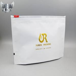Custom child resistant packaging with slider zipper