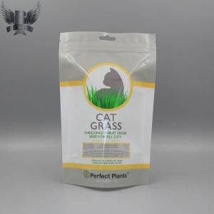 Customized cat grass bag cat treat packaging bag