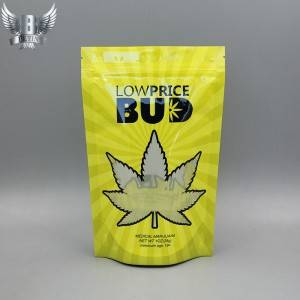 Customized stand up resealable cannabis packaging