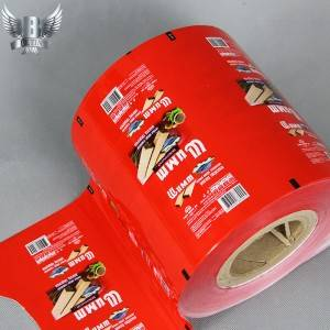 Printed roll stock packaging film