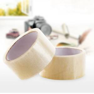 High quality OPP gum tape BOPP jumbo roll self adhesive waterproof transparent tape