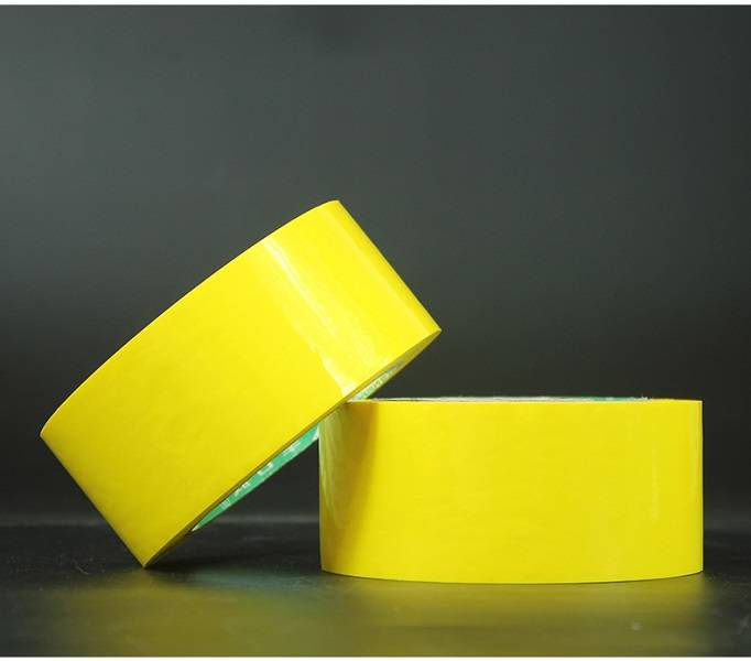 Professional China White Colored Opp Packing Tape – Colored packing tape – yellow color – Black Spider