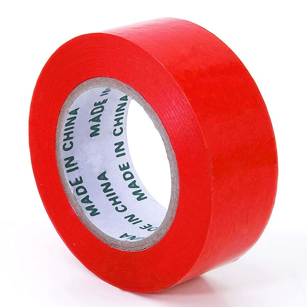 Professional China White Colored Opp Packing Tape – Colored bopp tape – Red color – Black Spider
