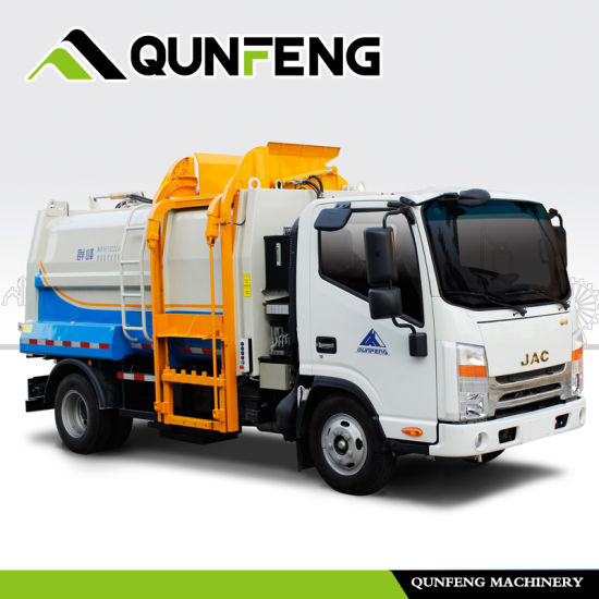 Side-Loading Garbage Compression Bin Collection Truck