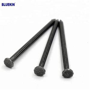 High hardness black concrete nail