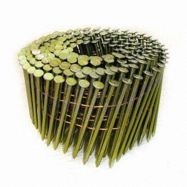Factory Customized Gabion Box Retaining Wall - 15 Degree Wire Collated Coil Roofing Nails – Bluekin