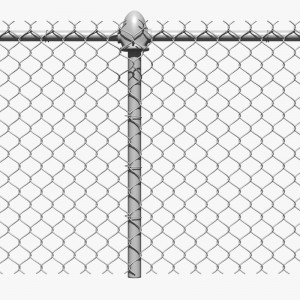 6 foot 9 gauge high quality chain link fence galvanized and pvc coated chain link fence