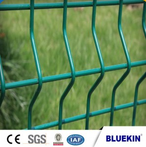 Galvanized 3D curved welded folding garden fence panel