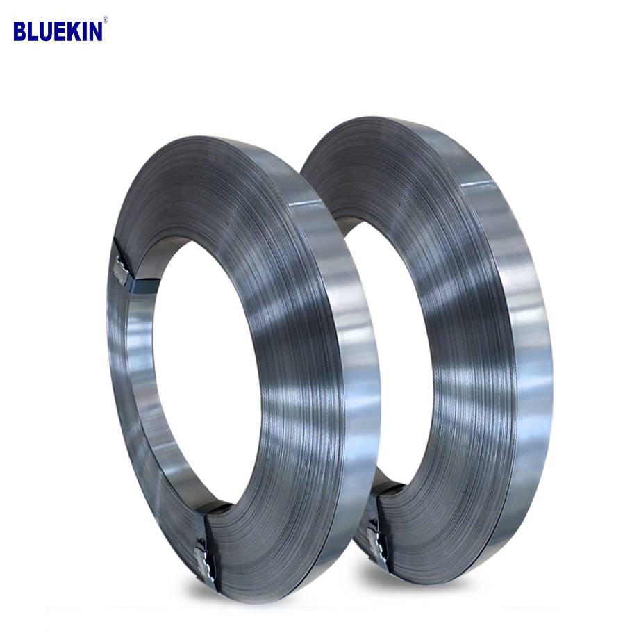 hot selling 60mm C67 blue steel strapping band spring steel tape Featured Image