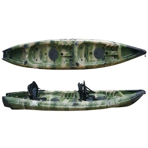 OEM Customized 4.1 Meter Single Fishing Kayak Sit On Top Electric Motor And Pedal Kayak With Adjustable Seat