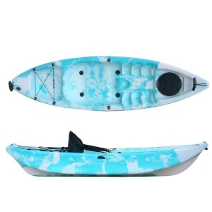 Low price for Stability Plastic Canoe Density Single Seat Kayak Canoe For Fishing