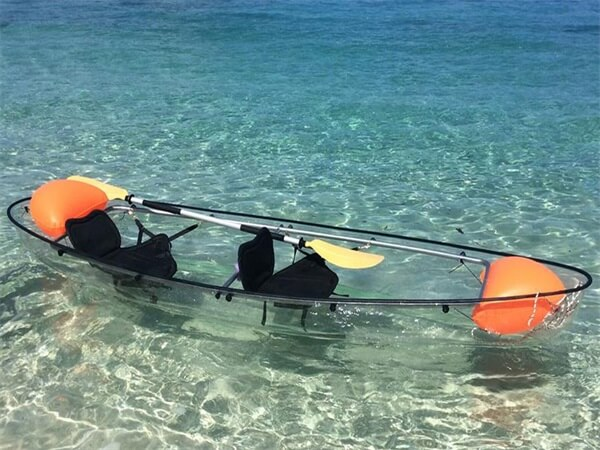 kayak transparente