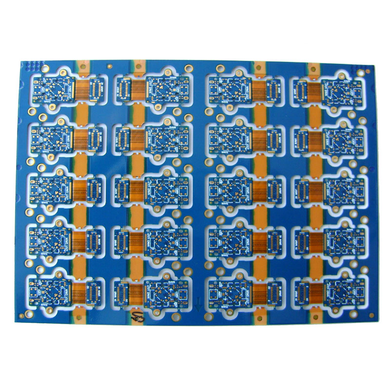 Rigid-Flex PCB with Blue Soldermask